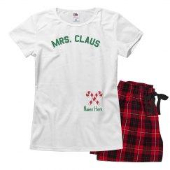 Mrs. Claus Custom Xmas Pajamas