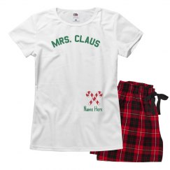 Mrs. Claus Custom Xmas Pajamas