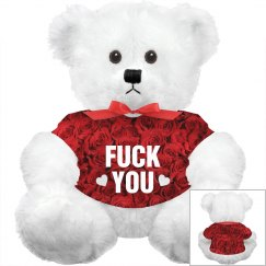 Fuck You Allover Rose Plush