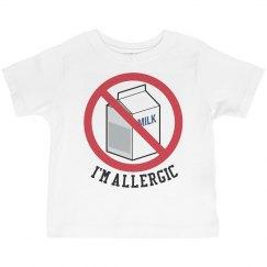 No Milk I'm allergic T-Shirt