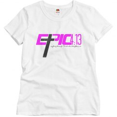 E.P.I.C. 4:13 - Women's Shirt with Pink & Black Paisley