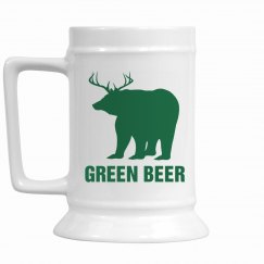 Green Beer Irish Stein