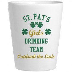 St Pats Girls Drinking Team Shotglass