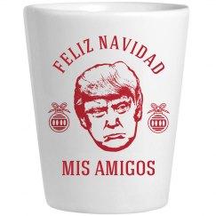 Feliz Navidad Trump Shot Glass Gift