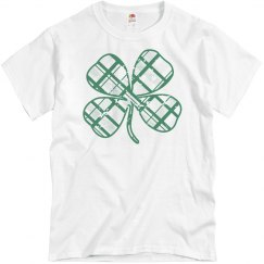 Trendy Irish Plaid Clover St Patricks