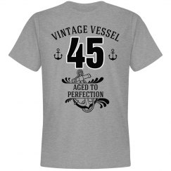 Nautical 45th birthday aged to perfection