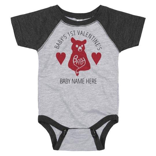 Baby Bear's 1st Valentine's Bodysuit