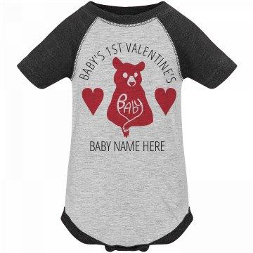 Baby Bear's 1st Valentine's Onesie