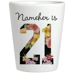 Floral Nameher is 21 Birthday Gift