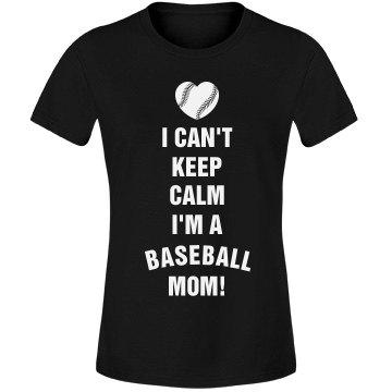 Baseball Mom Keep Calm