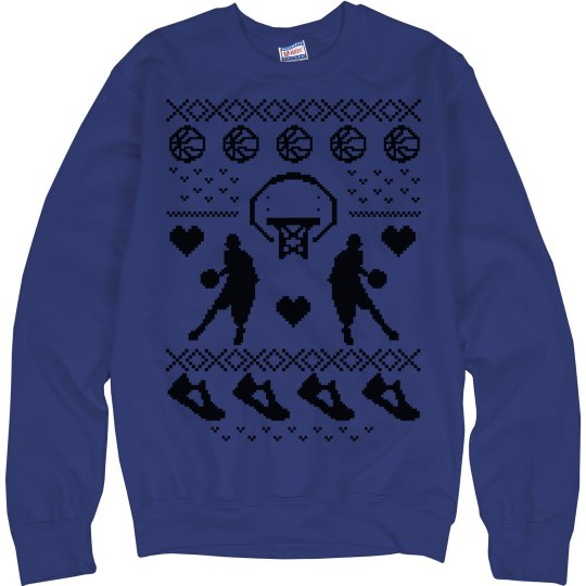 Basketball Sweatshirt Girl Christmas