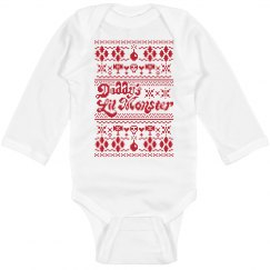 Daddy's Lil' Monster Xmas Bodysuit