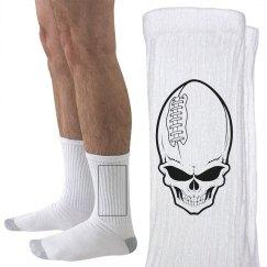 Football Skull Socks