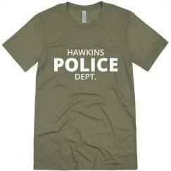 Hawkins Indiana Police Department Shirt