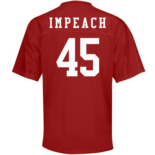 Funny Politics Impeach Number 45 Unisex Mesh Football Jersey c64ff6d9a