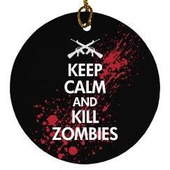 Keep Calm Zombies Xmas