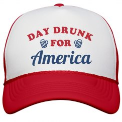 Funny Day Drinking For America Hat