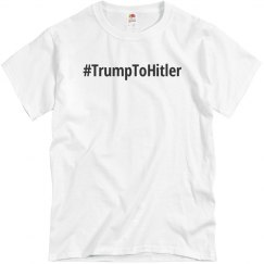 Simple Hashtag Trump To Hitler