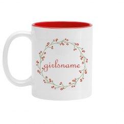 Personalized Girlsname Flower Mug