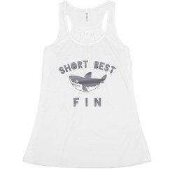 Short Best Fin Metallic Shark Bff