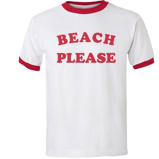 Beach Please Ringer Tee