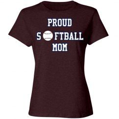 Proud Softball Mom Tshirt