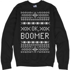 Millennial Ok Boomer Ugly Sweater
