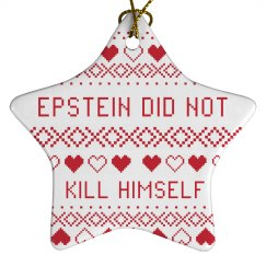 Epstein Christmas Star Ornament