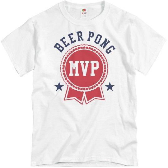 Beer Pong MVP Funny Drinking Tees