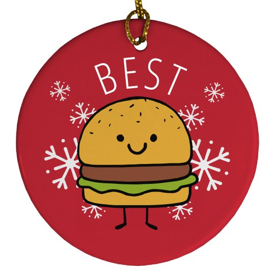 Best Friends Burger Ornament