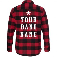 Custom Band Merch Flannel