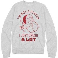 Not A Player Santa Tacky Christmas