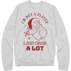 Not A Player Santa Tacky Christmas