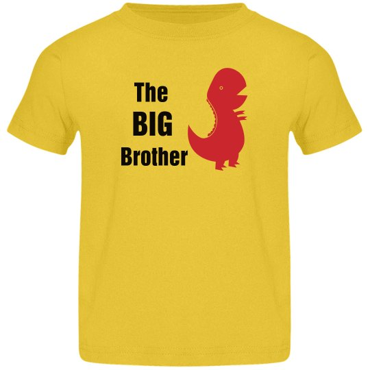Big Brother Dinosaur Shirt for Kids