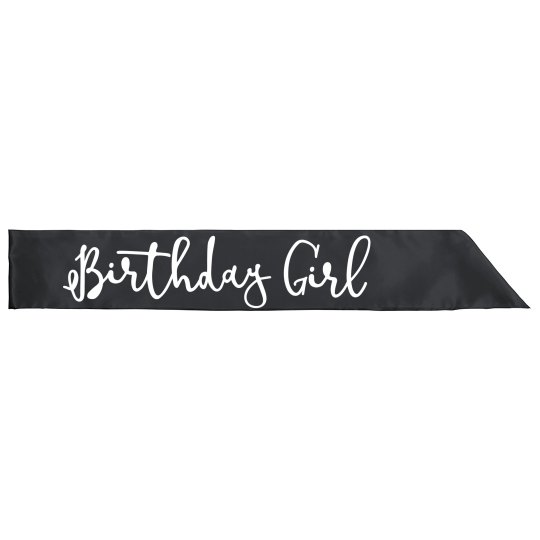 Birthday Girl Sash For Parties