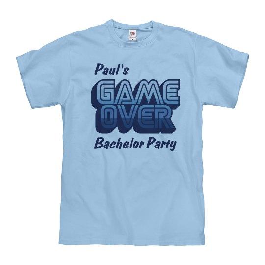 Blue Game Over Bachelor