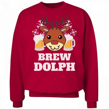 Brew-dolph Beer Christmas Sweater