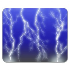 Blue Lightning Mousepad