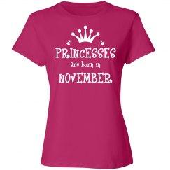 Princesses are born in November
