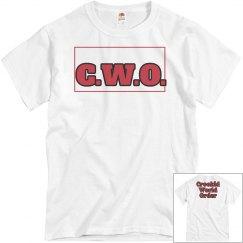 CWO white tee