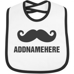 Mustache Baby Bib Addnamehere