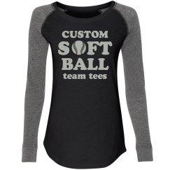 Custom Trendy Softball Team Tees