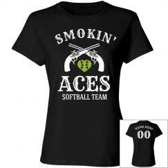 Custom Softball Team Smokin' Aces