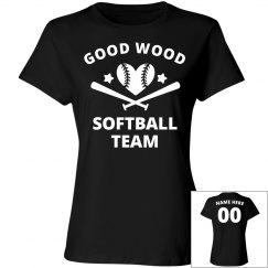Good Wood Funny Softball Team Name