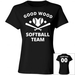 Good Wood Funny Softball Team Name