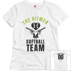 The Hitmen Funny Softball Team Name