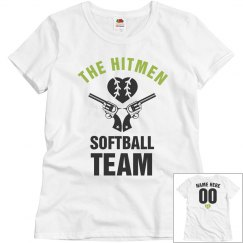 The Hitmen Funny Softball Team Name