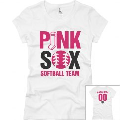 Funny Custom Pink Sox Softball Team