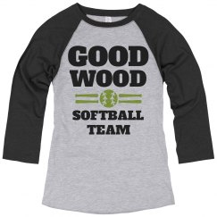 Good Wood Trendy Softball Team Name