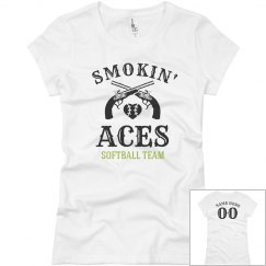 Smokin' Aces Funny Softball Team